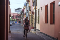 La bici (Mar Cifuentes) Tags: america bici bike bicicleta sunset people portrait street city santiago chile colores