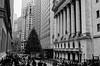 Wall Street - Christmas 2015 (lombardi.trevellin) Tags: leicam6 ilforddelta400 ilford summicron35mmasph wallstreet wallst financialdistrict nyc ny lowermanhattan
