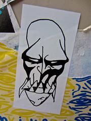 Anger, San Francisco, CA (Robby Virus) Tags: sanfrancisco california sf ca sticker slap anger angry face teeth art