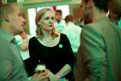 Marietje Schaake bij de D66 uitslagenavond Europese verkiezingen 2014 in Nijmegen