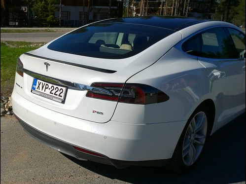#Tesla #ModelS #P85 in Levi, Finland 04. #Pureview