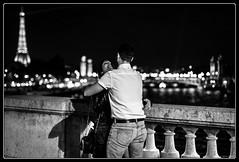 City of love (Maestr!0_0!) Tags: street bridge people white black paris love night couple noir tour bokeh candid eiffel amour pont rue nuit blanc