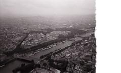 Paris (romuleald) Tags: blackandwhite paris tower film analog iso100 noiretblanc eiffel toureiffel 100 agfa glitch apx argentique rollei35 nationphoto