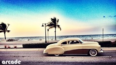 Fort Lauderdale Beach (*Arcade) Tags: classic car vintage florida streetphotography palmtrees dope fortlauderdalebeach iphoneography uploaded:by=flickrmobile flickriosapp:filter=nofilter