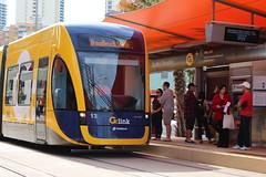 G:link Opening Day - 20/07/14 (Darcy Reynolds) Tags: tram lightrail openingday bombardier goldcoast lrv lightrailvehicle glink gclr flexity2 goldcoastlightrail goldcoasttram gclightrail flexityii