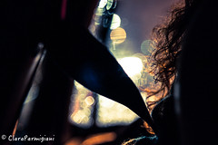 Lights in the car (ClaraWendy) Tags: auto light car hair lights drive driving bokeh security curly luci natale capelli cintura