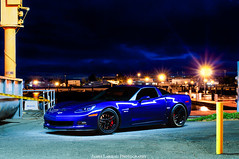 Corvette C6 Z06 (James Larieau) Tags: blue light chevrolet night marina painting island photography james mare waterfront chevy corvette vallejo lemans c6 z06 larieau