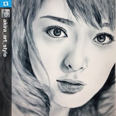 #Repost from @akira_art_style with @repostapp  ---  #貫地谷しほり #draw #drawing #art #illustration #picture #sketch #art_design_gallery #似顔絵 #スケッチ #drybrush #drybrushing #portrait #worldofpencils #featuring_art #arts_magazine #love #cute #instagood #girl #arti