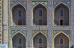 Monumental Carpet (angshu0105) Tags: heritage architecture canon square carpet design site asia madrasah patterns decoration silk unesco route tamron uzbekistan samarkand registan islamic angshuman 60d lppattern lppattern2