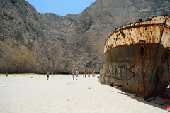 Shipwreck Beach Zakynthos (Angelo Pantazis) Tags: beach sand rust rocks shipwreck