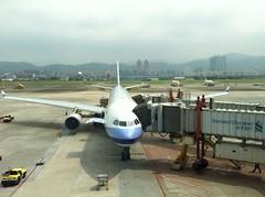 China Airlines (koborin) Tags: airplane airport chinaairlines d40 nikon nikond40 taipei taipeiinternationalairport taipeisongshanairport taiwan travel 台北 台湾 臺北 臺湾 臺灣