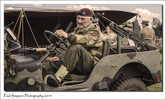 Sitting in a Jeep (Paul Simpson Photography) Tags: people car army jeep wwii transport event ww2 vehicle officer cleethorpes warweekend generalpurpose photosof imageof photoof imagesof sonya77 paulsimpsonphotography august2014