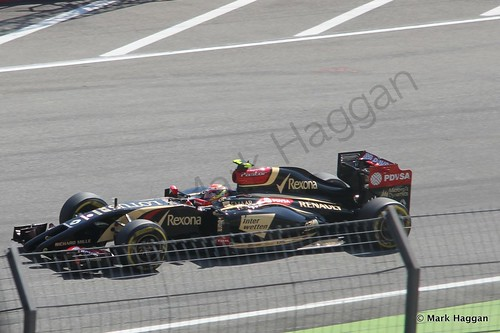 Pastor Maldonado in Free Practice 3 at the 2014 German Grand Prix