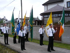 15th Aug 2014 - AOH Feast of the Assumption Procession Toome (seanfderry-studenna) Tags: county street old ireland girls people irish male men boys public female religious march ancient women catholic order candid pipe young accordion flute flags eire parade na bands uniforms procession persons banners northern ord arsa ulster antrim aoh hibs hibernians toome heireann toomebridge