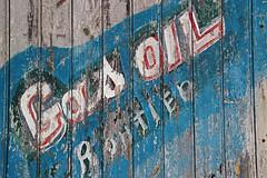 Gas Oil Routiers (Lark Ascending) Tags: france rot sign paint diesel decay worn fuel aquitaine poitoucharente gasoilroutiers