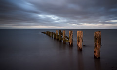 Last light (Elidor.) Tags: light sky beach evening dusk tide northumberland groynes berwickupontweed spittal d90 elidor