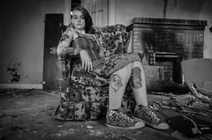 Shaman #17 (Byrds Eye Photography) Tags: urban house abandoned girl model decay tattoos alternative