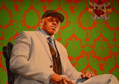 Kehinde Wiley - LL Cool J (pjpink) Tags: summer museum painting washingtondc smithsonian dc washington july artmuseum 2014 saam smithsonianamericanartmuseum pjpink