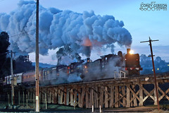 A cold Winters morning see's K190 & K153 crossing Winters Flat tres