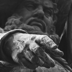 hey you ! (ewaldmario) Tags: portrait detail monument monochrome look statue closeup contrast square point grey austria tirol focus key play hand you pov finger low andreas angry held innsbruck hofer denkmal heroe bergisel fingerzeig ewaldmario andreashoferdenkmal