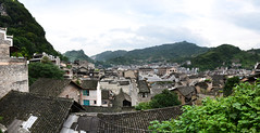 ZhenYuan Ancient Town  (Mel@photo break) Tags: china houses roof people heritage rooftop river town ancient chinese mel layers melinda guizhou   chanmelmel melindachan