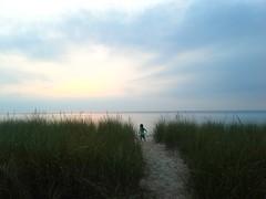 Magic Hour (rwchicago) Tags: sunset summer lake beach clouds skyscape sand weeds michigan august lakemichigan stjosephs magichour beachhouse bentonharbor