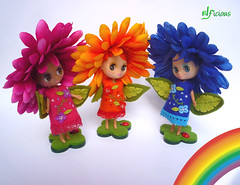 Three of the Rainbow Little Sprouts