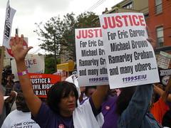 Rev. Al Sharpton Leads March, Rally Over Eric Garners Death On Staten Island (gerard_flynn) Tags: windows broken al eric rally n nypd stop sharpton garner frisk