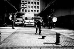 (behappy4asecond) Tags: chile street santiago blanco y negro centro artista chinchinero