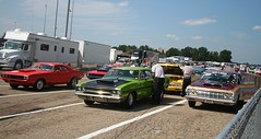 Staging Lanes (osubuckialum) Tags: show columbus ohio classic cars car views oh mopar nationals 1000 carshow 2014 moparnationals nationaltrailraceway