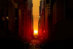 Manhattanhenge! (Greg - AdventuresofaGoodMan.com) Tags: city nyc newyorkcity sunset usa newyork building skyline manhattan manhatten manhattanhenge 42ndstreet manhattenhenge manhattanhengesunset