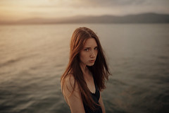 (Alessio Albi) Tags: light sunset sea portrait woman lake girl beauty