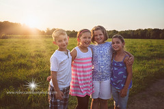 (Rebecca812) Tags: family girls friends boy sunset portrait sky sun beauty field grass kids children outdoors togetherness twins friendship sweet sister cousins brother joy content happiness bond hay fourpeople brownhair rurallife blondhair childrenonly armsaround rebecca812