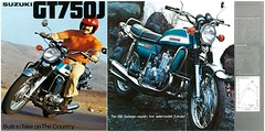 SUZUKI Brochure GT750 GT750J 1972 Sales (Rickster G) Tags: two classic water vintage ads flyer buffalo stroke literature kettle mans add le 70s suzuki gt sales brochure triple rare 250 dealer 380 550 750 stroker ramair 2stroke twinshock vjm