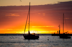 Postcard sunset (nikshaj) Tags: travel blue sunset red sea sky color tourism nature boat nikon sundown cloudy harbour dusk croatia yelow nikkor rovinj nightfall istria istra turist d3200 niksha onlythebestofflickr