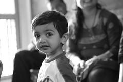 Hi handsome (Rahul Gaywala) Tags: boy bw girl monochrome kids canon mono honey 5d priyanka somani 24105 virat closefup panav gaywala