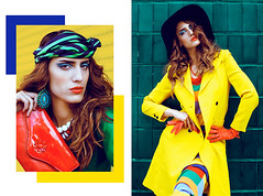 COLORAMA IN FLANELLE MAGAZINE (MAELLE ANDRE) Tags: pink blue orange woman color colors girl look fashion rose yellow jaune vintage magazine hair outfit clothing model colorful colours fashionphotography couleurs turquoise vibrant teal models makeup jewelry retro clothes editorial dominique jewelery jewels hairstyle colorsplash flashy styling colorwall modele stylist maelle wavyhair malle vibrancy fashioneditorial coloredwalls coloredstreet maelleandre maelleandrephotography