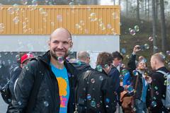 BUBBELS! (riclau) Tags: canon sweden stockholm laptop stickers startup conference node vrmd javascript tessel 70d macbook nordicjs