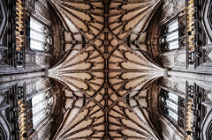 Roof at Winchester Cathedral (Ben.Gordon) Tags: uk roof england church window glass architecture buildings wooden catholic pattern god religion jesus gothic goth stainedglass hampshire carving architectural christian cathederal stained winchester stainedglasswindow carvings gothicarchitecture gothics gothical winchesterchurch winchestercathederal