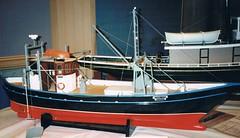Model of the 'Mildred Joyce Sutherland' (Great Lakes Manning River Shipping NSW) Tags: greatlakes nsw woodenboat fishingboat trawler tuncurry shipbuilding fishingtrawler midnorthcoast glmrsnsw mildredjoycesutherland nicholsonfamilycollection alecsutherlandsyt mildredjoycesutherlandasbst photo6355913885 glmrsnswfishingboats lfb4613 lynnnicholson