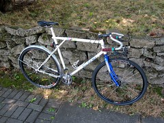 Half disc brakes & Lauterwasser bars (Tysasi) Tags: bike bars conversion fixie fixedgear brake gt disc randonneur randonneuse 650b talera lauterwasser parimoto