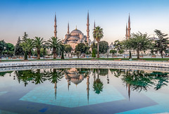 Blue Mosque (Perry McKenna) Tags: reflection fountain turkey istanbul wtf bluemosque sultanahmed 70100 nothdr 72100 70365 71100