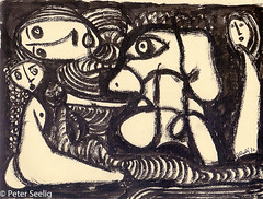 In The Shadow Of The Unsaid (Peter Seelig) Tags: 2016 20x15cm peterseelig quinoneadesso art artbook drawing ink