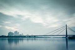 Moskovskyi Bridge | Kiev, Ukraine 2015 (philippdase) Tags: kiev ukraine longexposure moskovskyibridge skyline city water winter sky clouds nikond7100 sigma1835mm18