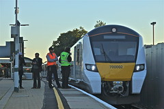 What To Do? (Deepgreen2009) Tags: thameslink 700 new doors failed problem station staff redhill platform railway train