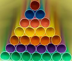 Straw Edge (Chandana Witharanage) Tags: srilanka macromondays edge straw straws macro macrophotography closeup colourful colours pyramid ringflash