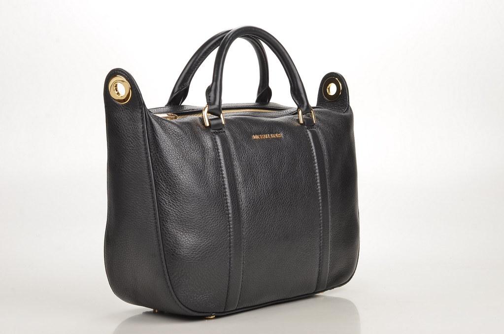 9fa0ca1dd0b44 Michael Kors Raven MD Satchel Handtasche Kalbsleder schwarz (black) (3)  (spera