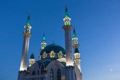Qolrif Mosque in Kazan Kremlin (Oleg.A) Tags: autumn tower sunset kremlin street twilight mosque city kazan russia evening tatarstan oldtown town   respublikatatarstan ru