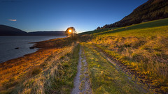 Autumn Sunset (Kenneth Solfjeld) Tags: hamarøysand nesna sheep helgeland northernnorway norway norge noreg norwegen colours colors sunset grass path tree sea hill visitnorway visithelgeland lee sw150 soft graduated neutral density filter 09 3 stop