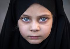 Iranian shia girl with blue eyes during Ashura in Khorramabad, Iran (Eric Lafforgue) Tags: khorramabad lorestanprovince iran asia beautifulpeople child childhood childrenonly closeup colorimage colour eye frontview headandshoulders horizontal humanbodypart humaneye humanface humanhead islamicrepublicofiran lookingatcamera middleeast onegirlonly oneperson onlygirls outdoors people photography portrait simplicity smiling thehumanbody traveldestinations